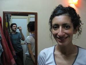 Dans notre minuscule 1ere chambre a Bombay