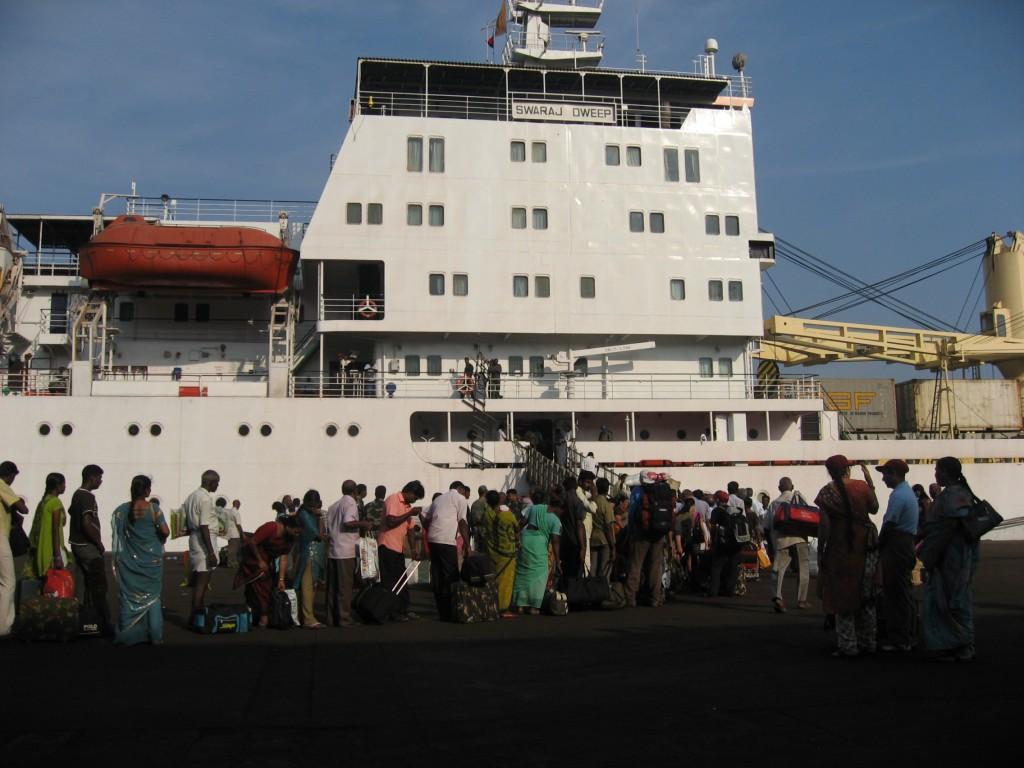 Embarquement a Chennai
